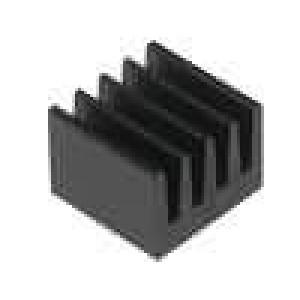 Chladič lisovaný černá L:8mm W:8mm H:6mm 74K/W hliník