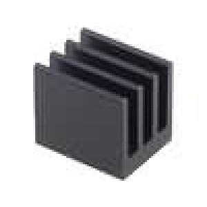 Chladič lisovaný černá L:17mm W:13,5mm H:15,24mm 19,4K/W