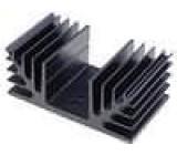 Chladič lisovaný SOT9,TO3,TO66 černá L:50mm W:88mm H:35mm