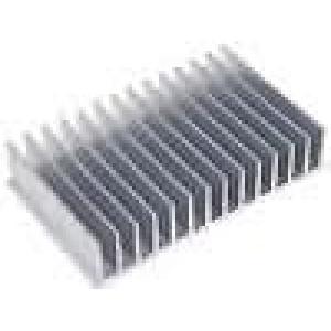 Chladič lisovaný žebrovaný L:100mm W:165mm H:35mm hliník