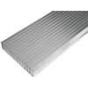 Chladič lisovaný žebrovaný L:1000mm W:165mm H:35mm hliník