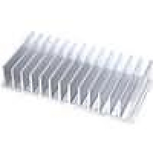 Chladič lisovaný žebrovaný L:80mm W:165mm H:35mm hliník