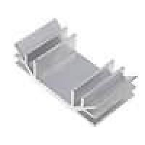Chladič lisovaný U L:35mm W:70mm H:19mm hliník