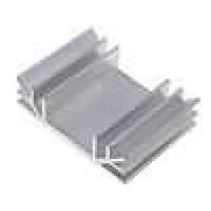 Chladič lisovaný U L:50mm W:70mm H:19mm hliník