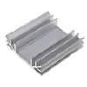 Chladič lisovaný U L:75mm W:70mm H:19mm hliník