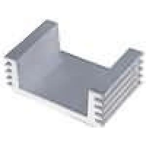 Chladič lisovaný L:25mm W:40mm H:15mm 42cm2 vnitřní šíře: 28mm