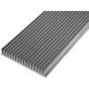 Chladič lisovaný žebrovaný L:1000mm W:150mm H:25mm hliník