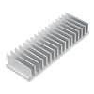 Chladič lisovaný žebrovaný L:50mm W:150mm H:25mm hliník