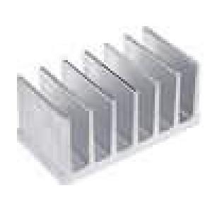Chladič lisovaný žebrovaný L:40mm W:78mm H:35mm hliník