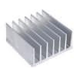 Chladič lisovaný žebrovaný L:80mm W:78mm H:35mm hliník