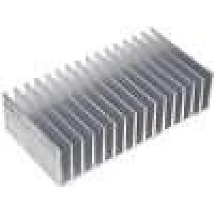 Chladič lisovaný žebrovaný L:100mm W:190,5mm H:50mm hliník