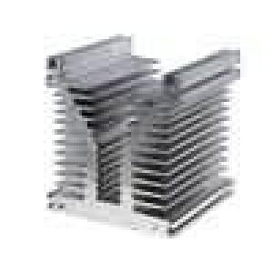 Chladič lisovaný Y L:120mm W:126mm H:136mm hliník naturální