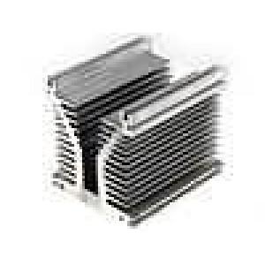 Chladič lisovaný Y L:150mm W:126mm H:136mm hliník naturální