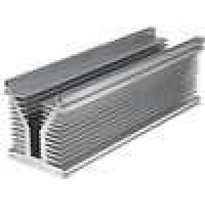 Chladič lisovaný Y L:400mm W:126mm H:136mm hliník naturální
