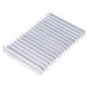 Chladič lisovaný žebrovaný L:100mm W:150mm H:15mm 2,1K/W