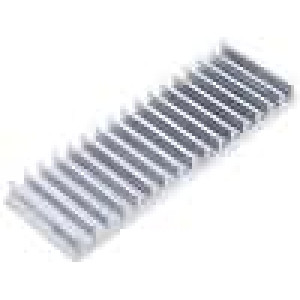 Chladič lisovaný žebrovaný L:50mm W:150mm H:15mm 3K/W hliník