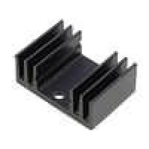 Chladič lisovaný TO220 černá L:20mm W:29mm H:11,5mm 15K/W