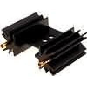 Chladič lisovaný SOT32,TO220,TO3P černá L:25,4mm 14K/W