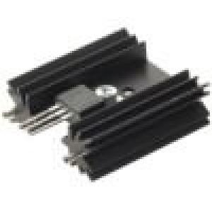 Chladič lisovaný SOT32,TO220,TO3P černá L:38,1mm 11K/W