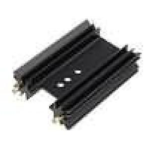 Chladič lisovaný SOT32,TO220,TO3P černá L:50,8mm 9K/W hliník