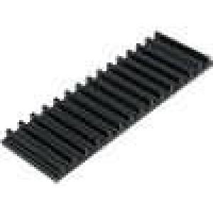 Chladič lisovaný žebrovaný černá L:50mm W:159mm H:10mm