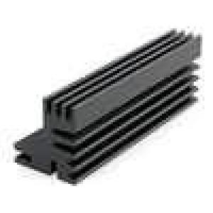 Chladič lisovaný TO220 černá L:84mm W:30mm H:28mm 6K/W
