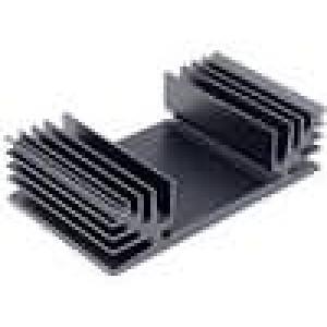 Chladič lisovaný TO3 černá L:37,5mm W:65mm H:18mm 6K/W