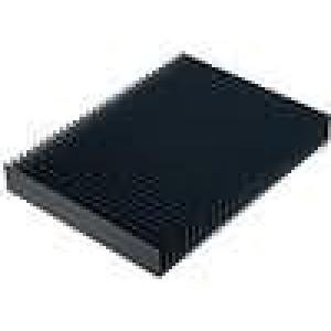 Chladič lisovaný žebrovaný černá L:150mm W:200mm H:25mm