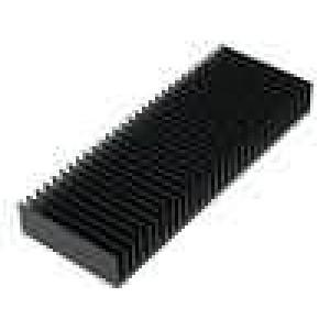 Chladič lisovaný žebrovaný černá L:75mm W:200mm H:25mm