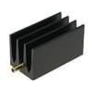 Chladič lisovaný žebrovaný TO220 černá L:30mm W:16mm H:16mm