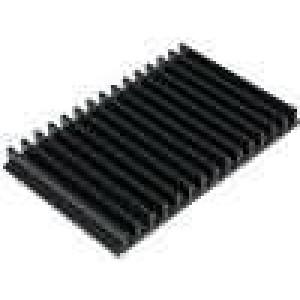 Chladič lisovaný žebrovaný černá L:100mm W:159mm H:15mm