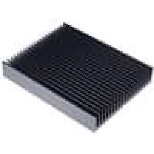 Chladič lisovaný žebrovaný černá L:250mm W:200mm H:40mm