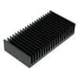 Chladič lisovaný žebrovaný černá L:100mm W:200mm H:40mm
