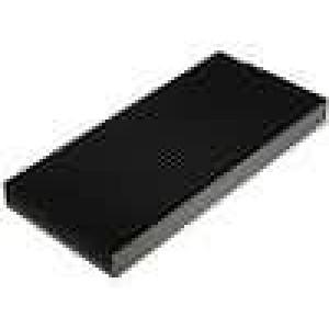 Chladič lisovaný žebrovaný černá L:1000mm W:200mm H:40mm