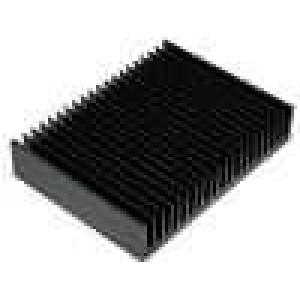 Chladič lisovaný žebrovaný černá L:150mm W:200mm H:40mm