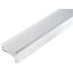 Chladič lisovaný černá L:1000mm W:52,3mm H:28mm hliník