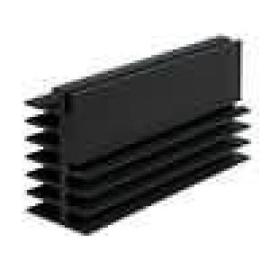 Chladič lisovaný černá L:100mm W:32mm H:52mm 2,2K/W hliník