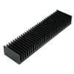Chladič lisovaný žebrovaný černá L:75mm W:300mm H:40mm
