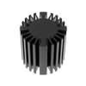 Chladič odlévaný pro diody LED černá H:50mm hliník eloxovaný