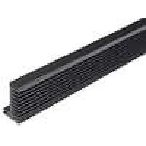 Chladič lisovaný TO220 černá L:1000mm W:55mm H:31mm 2,3K/W