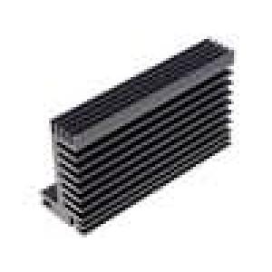 Chladič lisovaný TO220 černá L:94mm W:55mm H:31mm 2,9K/W