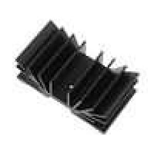 Chladič lisovaný TO220 černá L:37,5mm W:70mm 4,1K/W hliník