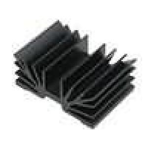 Chladič lisovaný SOT32 černá L:37,5mm W:54mm 5,5K/W hliník
