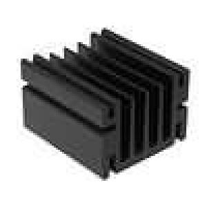 Chladič lisovaný TO220 černá L:50mm W:46mm H:33mm hliník