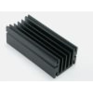 Chladič lisovaný TO220 černá L:75mm W:46mm H:33mm hliník