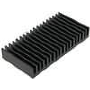 Chladič lisovaný žebrovaný černá L:50mm W:100mm H:15mm