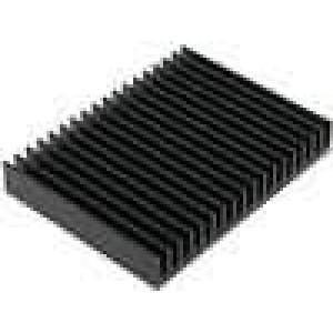 Chladič lisovaný žebrovaný černá L:75mm W:100mm H:15mm