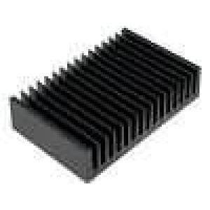 Chladič lisovaný žebrovaný černá L:100mm W:160mm H:40mm