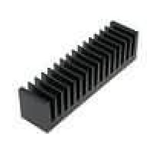 Chladič lisovaný žebrovaný černá L:37,5mm W:160mm H:40mm