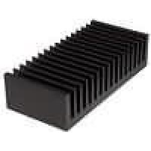 Chladič lisovaný žebrovaný černá L:75mm W:160mm H:40mm